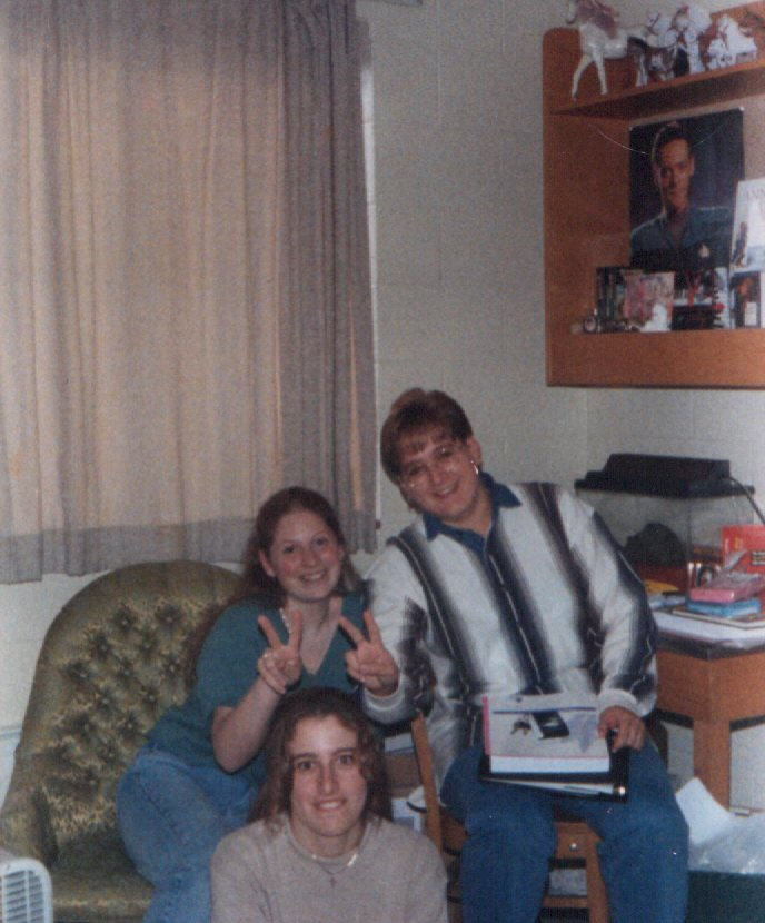 Patty, Me (with long hair!!), and Jenny in Hirschy